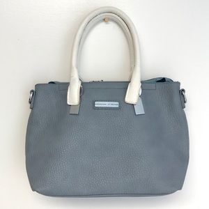 Adrienne Vittadini | slate gray blue satchel bag